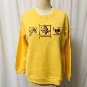 Breckenridge Christmas Sweatshirt Size PL Snowman Holiday Green Petite Large